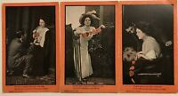 Lot of 3 Romantic Postcards~Men~Women~ Hearts ~Vintage Romance-Unused-p385