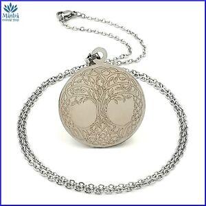 Amuleto ciondolo nodo celtico albero della vita in acciaio collana uomo donna da