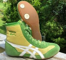 RARE Onitsuka Tiger 81 Wrestling Shoes Size 6.5 Green Yellow White ASICS