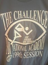 FBI Focus On Fitness FBI  National Academy 199th Session T Shirt XL