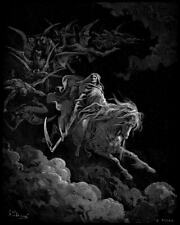 Gustave Dore Death on the Pale Horse Poster Reproduction Giclee Canvas Print