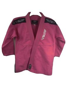 Elite Sports Pink Brazilian Jujitsu Karate Jacket Top Embrace The Pain Size C3