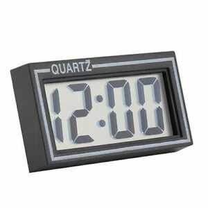 Mini Digital Clock for Car Small Digital Quartz LED LCD Display Dash Dashboard