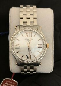 Robert Cox Signature Men's Mother Of Pearl Dial With White Topaz Accents Watch