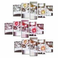 5PCS Diamond Art Flowerr Canvas Painting Picture Print Home Wall Decor Unframed
