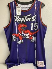 Vince Carter Purple Toronto Raptors Mitchell And Ness Jersey Size Large New