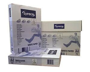 A4 80gsm Lyreco White Copier/Laser/Inkjet/Printer Office Copy Paper Free Courier