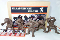 Swamp Trolls, Fantasy Plastic Toy Soldiers from Russia, 60mm Figures, Handmade