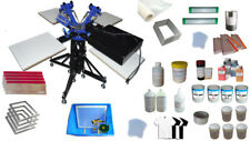 3 Color Screen Printing Materials Package Kit-Machine with Materials Set Sale