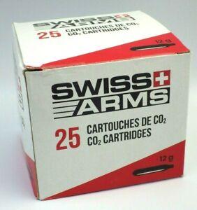 Airsoft BOITE X25  lot Cartouches de CO2 SWISS ARMS 12g neuf en stock