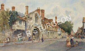 Art by Dick Sturgeon, Signed Artists Proof of St Ann's Gate, Salisbury, Wilts