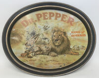 Vintage 1979 Dr. Pepper King of Beverages Soda Tin Tray Lion