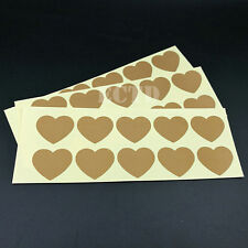 """120- Scratch Off Labels love heart gold Stickers (1.06"""" x 1.26"""")"""