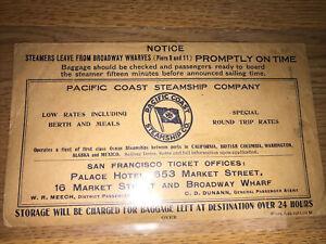 1911 Pacific Coast Steamship Ticket Envelope