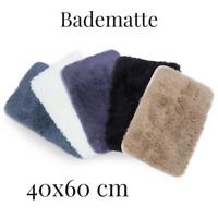 Teppich Fuß Matte Badematte Bad Fußmatte Hochflor antirutsch 40x60 cm Farben