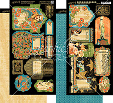 Graphic45 VINTAGE HOLLYWOOD TAGS & POCKETS Die-Cuts scrapbooking