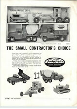 1960 PAPER AD Tonka Toys Paving Department Sold Out in 1959 Cement Mixer Grader