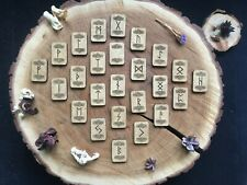 wooden runes / elder futhark wiccan paganism wicca witchcraft divination tools