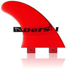 Dorsal Performance Flexrez Core Surfboard Twin Surf Fins (2) Fcs Compatible Red