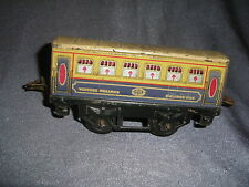 372B Antique Hornby Meccano París Coche Pullman Ejes 1:43,5 O 1/43,5