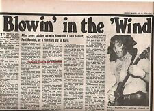HAWKWIND new bassist Paul Rudolph (Pink Fairies) 1975 UK ARTICLE / clipping