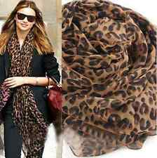 High Quality Fashion Wrap Shawl Animal Print Leopard Chiffon Scarf Scarves Stole