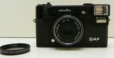 Vintage Minolta Hi-Matic AF Point & Shoot 35mm Camera w/ Rokkor 38mm f2.8 Lens,