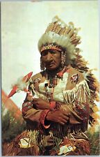 postcard Old Indian Chief by Franklin Photo Agency