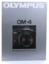 Olympus OM-4 35mm SLR Camera Booklet / Promotional Material - 42 Pages