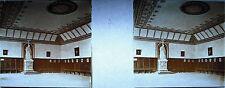 Plate Photo Stereoscopic Photography Interior Church IN Italy Towards 1930