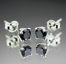 .70tcw to .90tcw Real Natural Black Diamond Earrings AAA Grade $550 Value +