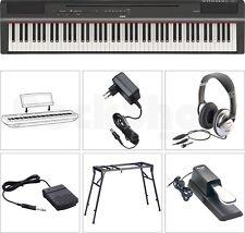 Yamaha P 125 B Digital E-Piano SET mit Stativ/Tisch + Kopfhörer + Sustain Pedal