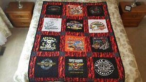 "Handmade Harley-Davidson T-Shirt Quilt – 59"" x 76"""