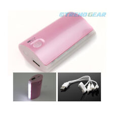 5200MAH BACKUP BATTERY CHARGER MICRO USB PINK GALAXY S3 S4 NOTE TAB KINDLE FIRE