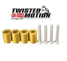 "TWISTED MOTION HOOD SPACERS SR20DET S13 S14 240SX ""GOLD"""