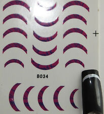 French NagelSticker Nagel Sticker R-B034 , Lila - ABVERKAUF