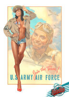 🇺🇸 PIN-UP 77-2 1st.Ltd.Edition Enhanced Giclee, Painted, Signed,COA by KOUFAY