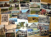 30 Vintage UNUSED postcards, Random cards from the 1910s to '80s, Postcrossing