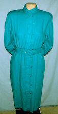 California Designs Belted Dress Size 4 Casual Church or Career Buttons Down Fron