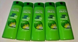 5 Garnier Fructis DAILY CARE 2in1 Fortifying Shampoo & Conditioner 12.5 FL OZ