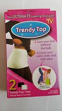 2x Trendy Top Tummy And Waist Control Slimming Shapewear Black/White Top UK