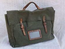 1940s Bag WW2 Document Carrier WW2 Canvas Briefcase 1940 Luggage Vtg Satchel