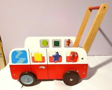 DUSHI WOODEN PUSH AND PLAY  FIRE TRUCK