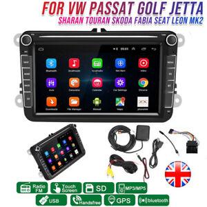 8'' Android 8.1 Car Radio GPS Sat Nav Stereo bluetooth for VW Golf MK5 MK6 Jetta