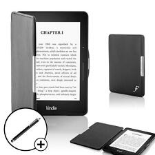 Forefront Cases Black Smart Shell Case Cover for Amazon Kindle Voyage + Stylus