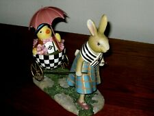 Mackenzie Childs Country Stroll Egg Cart w/chick & Mother rabbit, No box