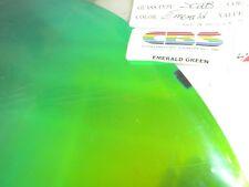 "Dichroic Glass:CBS 96 COE Emerald Green on Flat Clear- 3""Sq"