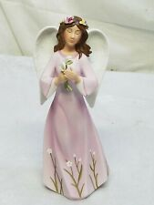 "Celebrating Home Interior Homco""Beautiful Angel Lady w/ Flower's Figurine(Nib)"