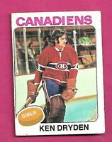 1975-76 TOPPS # 35 CANADIENS KEN DRYDEN GOALIE CREASED CARD (INV# D2917)