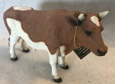 "Guernsey Bull w/hang tag -5"" tall & 7"" long (solid resin) Realistic/lifelike C"